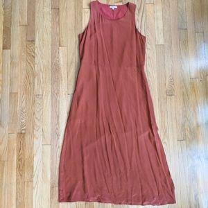Madewell Silk Drop Waist Maxi Dress